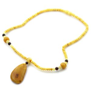 Natural Baltic Amber Necklace with Pendant 45cm 13.5gr. NP60