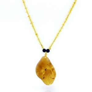 Natural Baltic Amber Necklace with Pendant 60cm 14gr. NP79