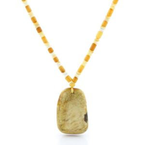 Natural Baltic Amber Necklace with Pendant 57cm 14gr. NP91
