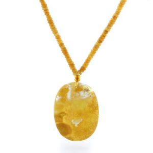 Natural Baltic Amber Necklace with Pendant 50cm 21gr. NP94