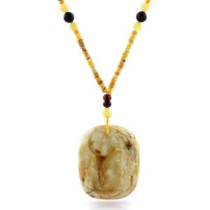 Natural Baltic Amber Necklace with Pendant 60cm 39gr. NP109