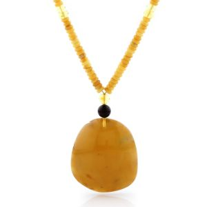Natural Baltic Amber Necklace with Pendant 60cm 29gr. NP118
