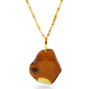Natural Baltic Amber Necklace with Pendant 60cm 25gr. NP123