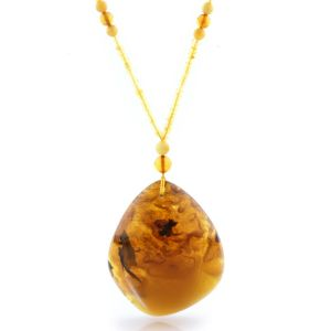 Natural Baltic Amber Necklace with Pendant 60cm 62gr. NP125
