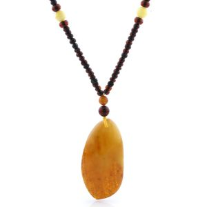 Natural Baltic Amber Necklace with Pendant 60cm 20gr. NP128