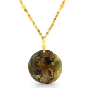 Natural Baltic Amber Necklace with Pendant 60cm 34gr. NP143