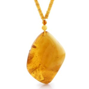 Natural Baltic Amber Necklace with Pendant 60cm 72gr. NP144