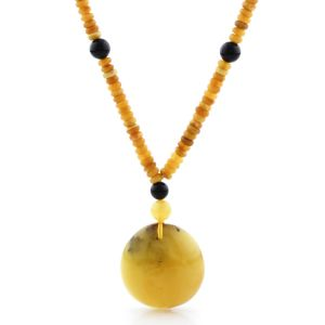 Natural Baltic Amber Necklace with Pendant 60cm 41gr. NP153
