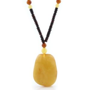 Natural Baltic Amber Necklace with Pendant 69cm 21gr. NP164