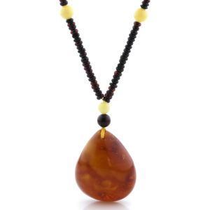 Natural Baltic Amber Necklace with Pendant 60cm 26gr. NP167