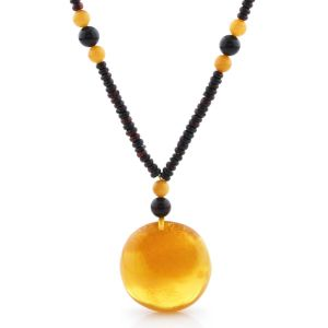 Natural Baltic Amber Necklace with Pendant 60cm 24gr. NP173