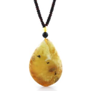 Natural Baltic Amber Necklace with Pendant 60cm 28gr. NP174